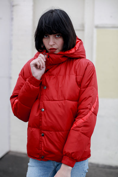 Red puff winter jacket by Numph - Shop at S120