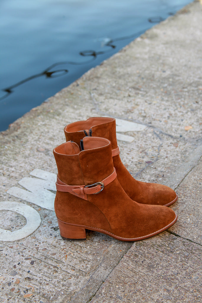 tan brown india leather boots made in italy portamento