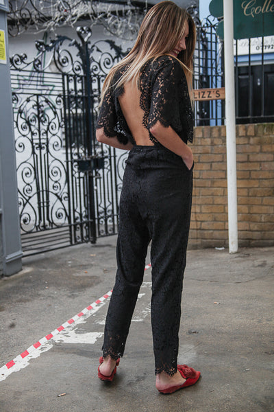 CRIME LACE JUMPSUIT