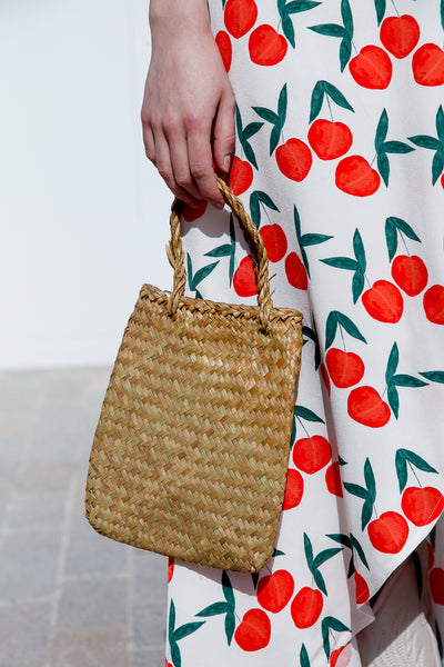 Flat Straw Bag Small