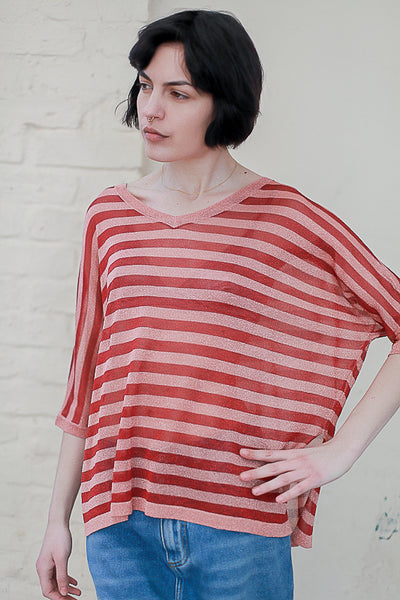 Batwing Stripe Sweater