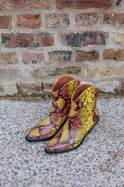 Clint Yellow Snake Boots