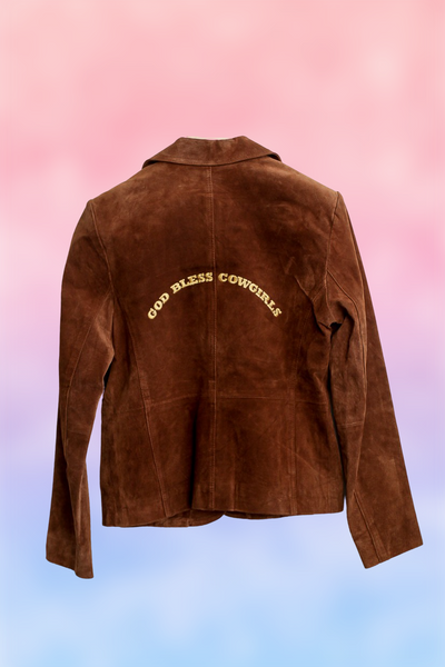 God Bless Cowgirl Leather Jacket Brown 122