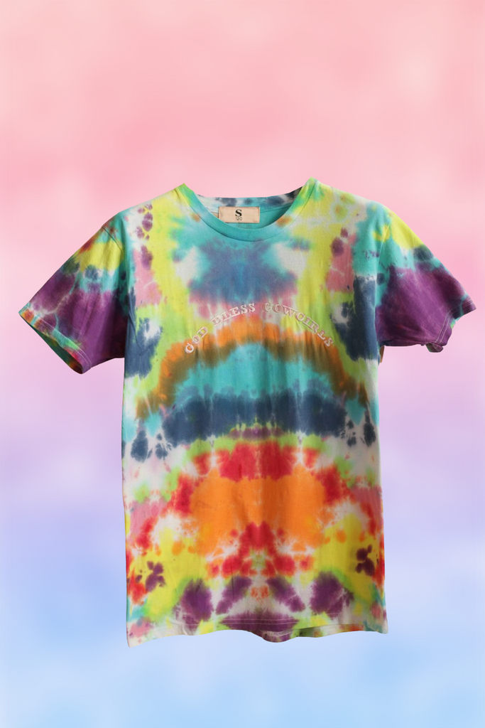 God Bless Cowgirls Tie Dye Tee 122
