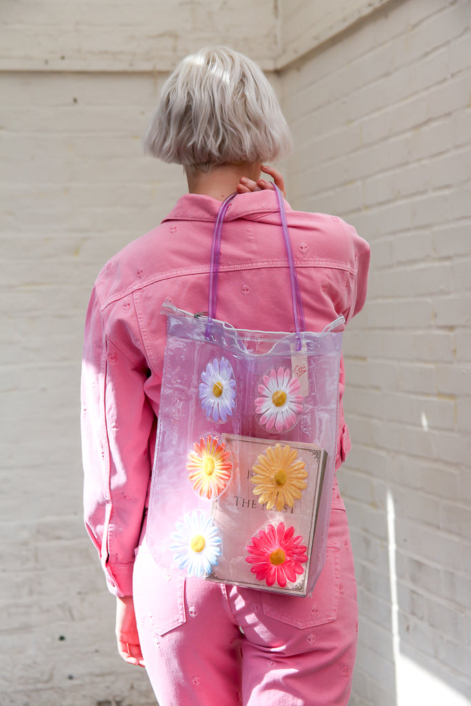 Transparent Flower Bag Liliac