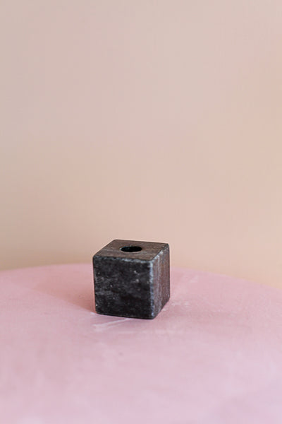 Marble Cube Candle Holder Small