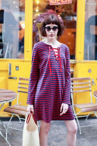 STRIPED RAELYN DRESS BY LEON AND HARPER