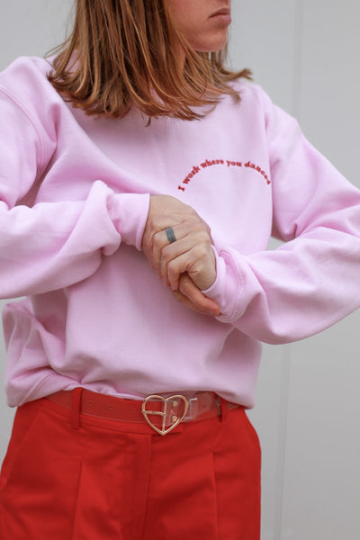 Embroidered Pink Sweatshirt