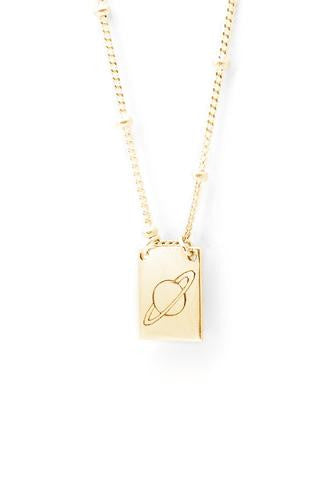 Saturn Necklace Gold