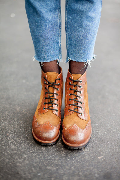 Gaia Brown Combat Boots