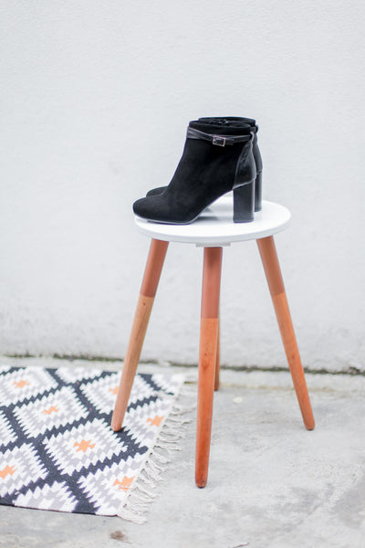 Meg Black Ankle Boots