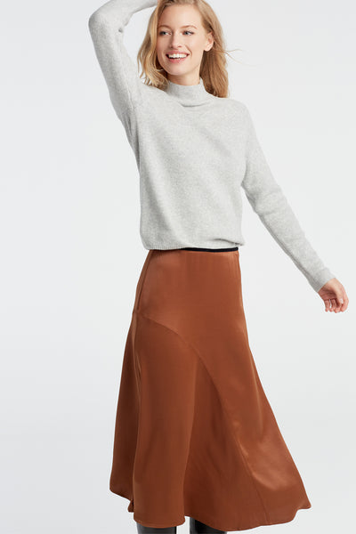 Bronze Satin Skirt