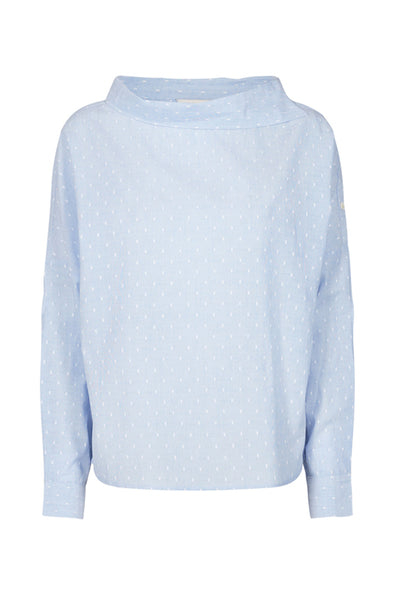 baby blue abalina blouse by numph