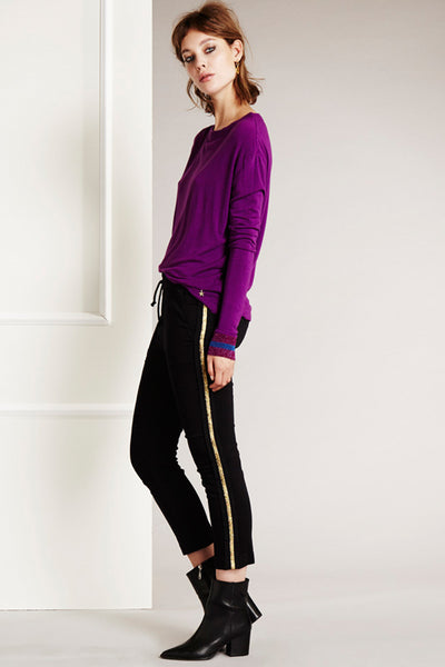 GOLD STRIPE ALICE PANTS BY FABIENNE CHAPOT