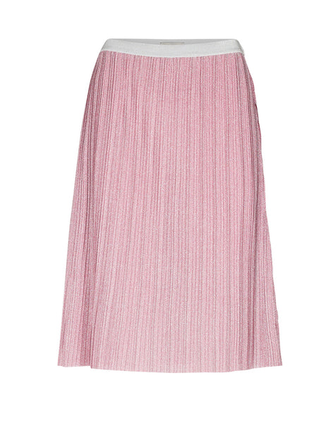 PINK LUREX SPARKLY AUDRINA JERSEY SKIRT BY NUMPH