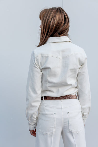 Nicia White Denim Pants