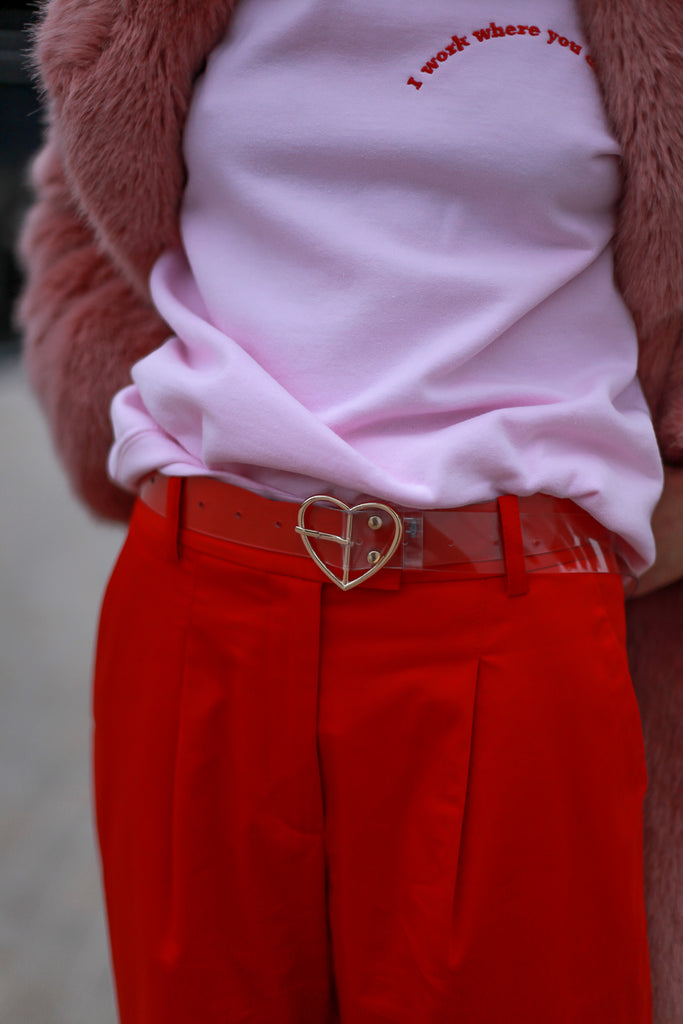 Transparent Heart Belt