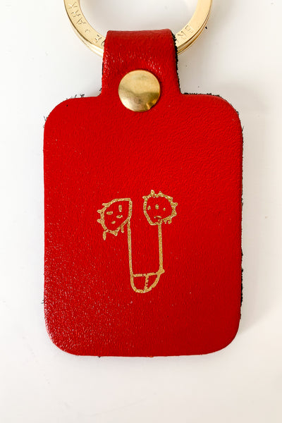 Willy Key Fob Red