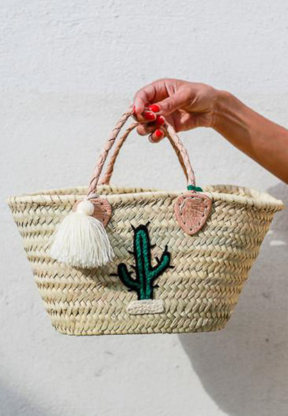 Straw Mini Cactus Bag