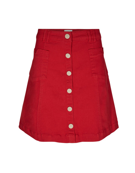 charman red chilli pepper skirt numph