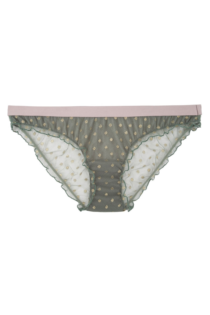 Firecracker light green mesh brief by Love Stories