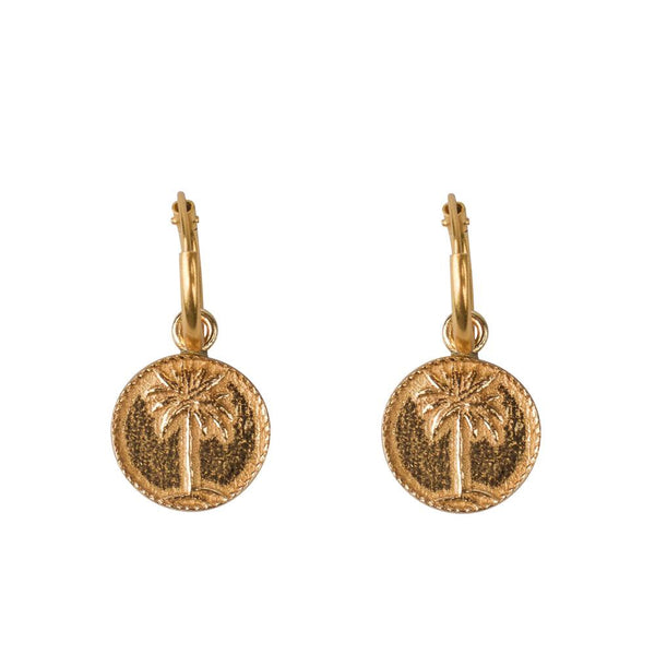 Palm Coin Earrings