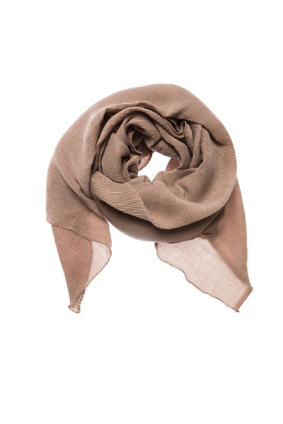 champagne ribbed scarf by yaya