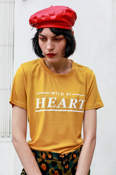 'Wild at Heart' mustard t-shirt by MbyM