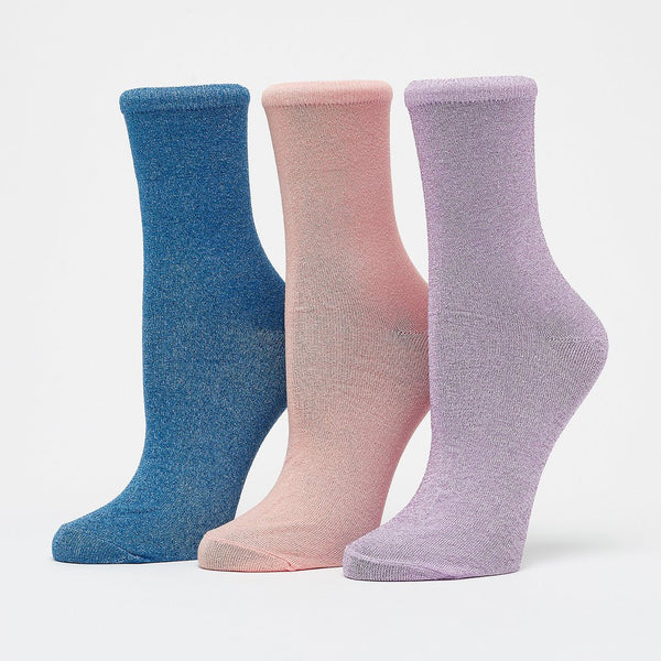 kingcity glitter socks 3 pack by numph