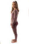 The Brooklyn Pajama Set in Passion (heart) Print: Women's Sizes XS-XXL