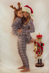 The Brooklyn Pajama Set in Purple Glen Plaid: Women's Sizes XS-XXL