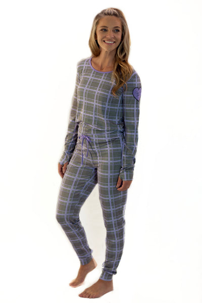 The Brooklyn Pajama Set in Angelina (Holiday) Print: Women's Sizes XS-XXL