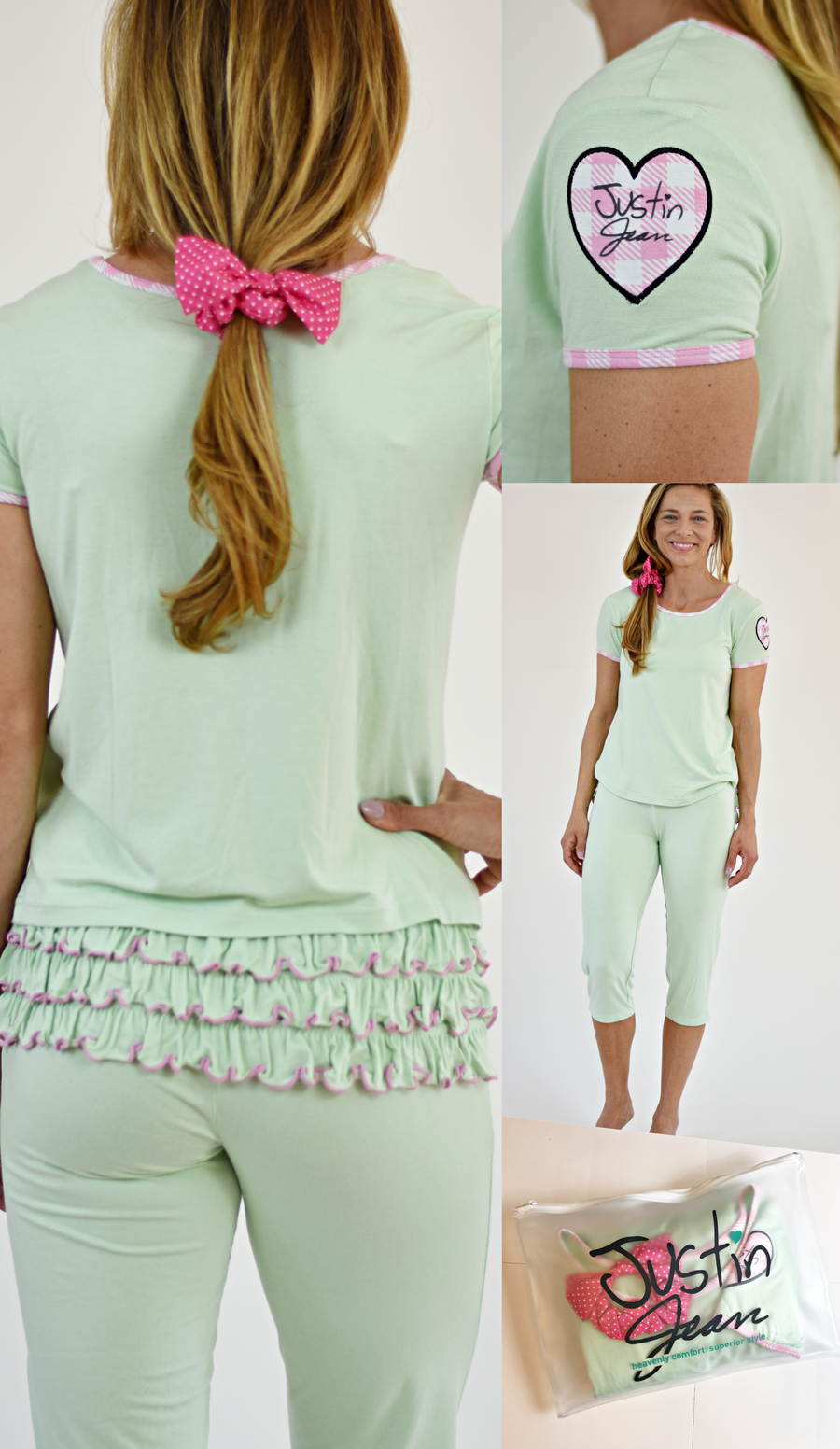 Justin Jean® va va Vasto!™ Capri Pajama Set for Women: 6 colors!