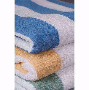 Oxford Cabana 100% Ringspun Cotton Yarn Cabana Pool Towel - 2 Dz