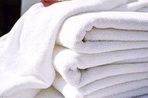 100% Cotton Classic Economy White Bath Towel- 25 Dz
