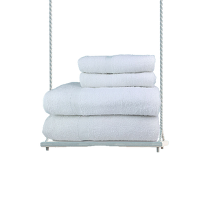 100% Cotton Classic Economy White Bath Towel- 10 Dz