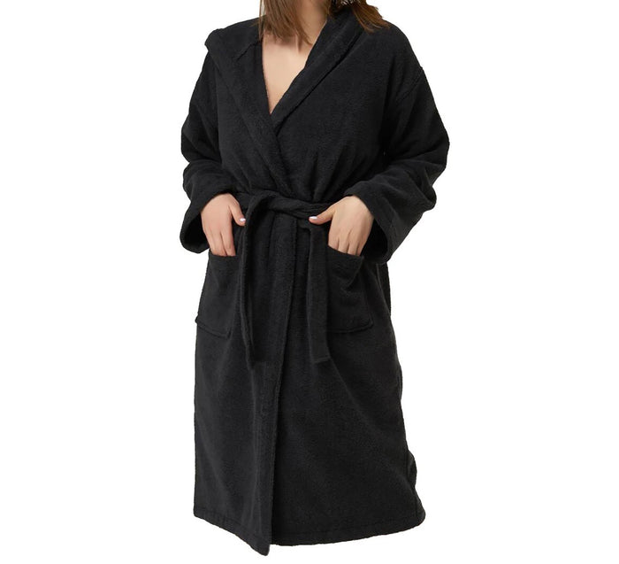 Wholesale Turkish Cotton Heavy Weight Terry Bathrobe with Extra Large Hood
