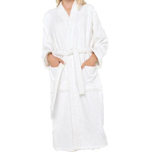 White Terry Ringspun Cotton Kimono Bathrobe