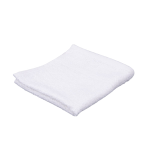 Oxford Gold Dobby 86% Cotton 14% Polyester With 100% Cotton Loops Dobby Border White Washcloth - 25 Dz
