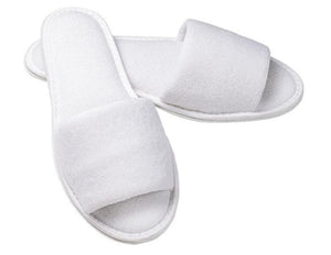 Wholesale Open Toe Terry Spa Slippers