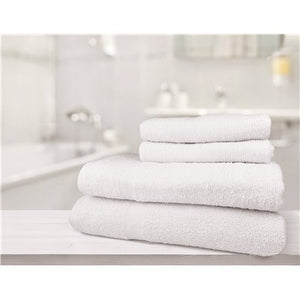 100% Cotton Classic Economy White Bath Towel- 5 Dz