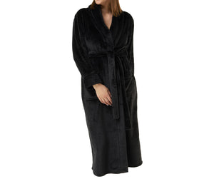 Plush Soft Warm Fleece Womens Robe
