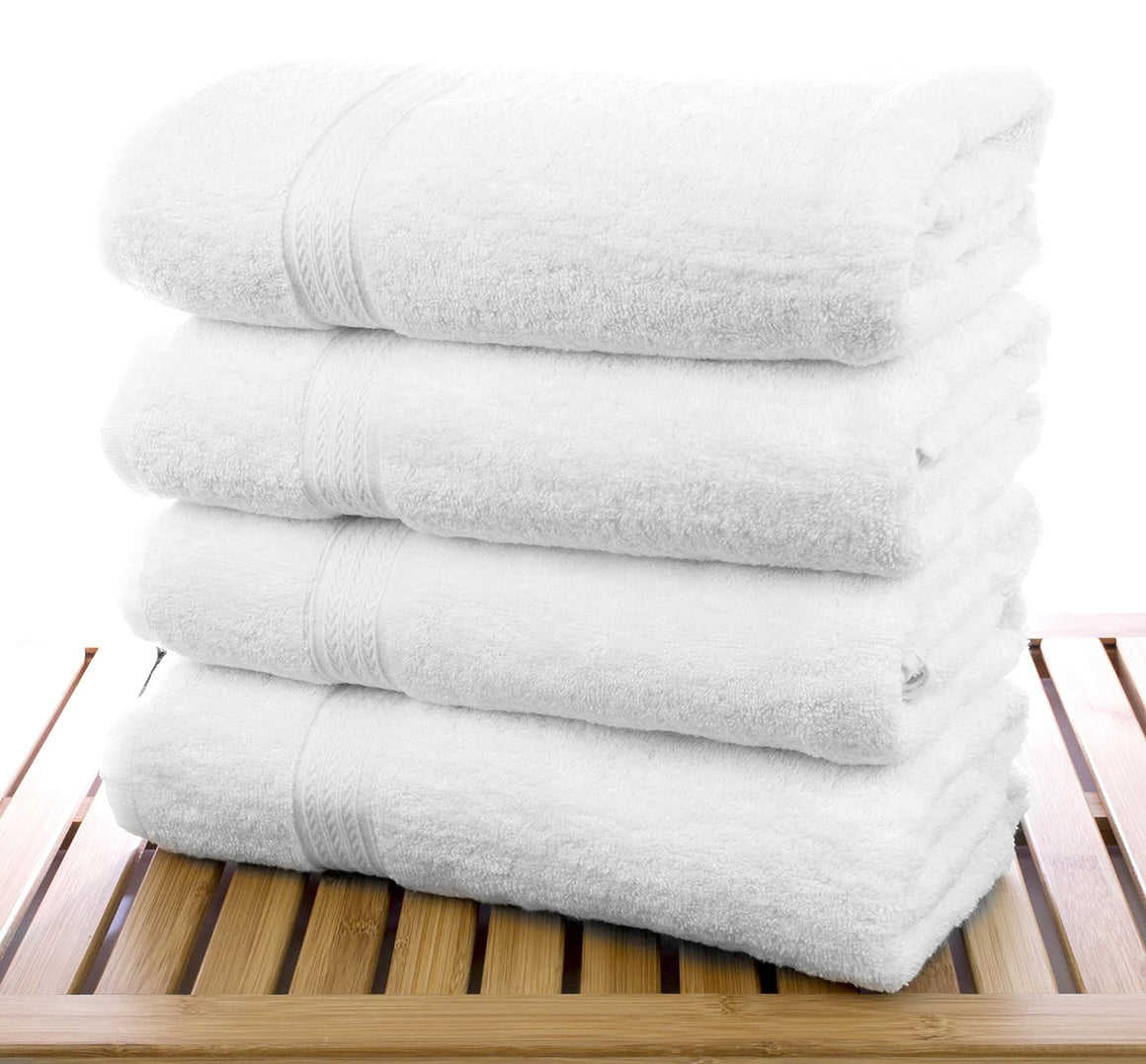 Wholesale 100% Cotton Eco White Bath Towel