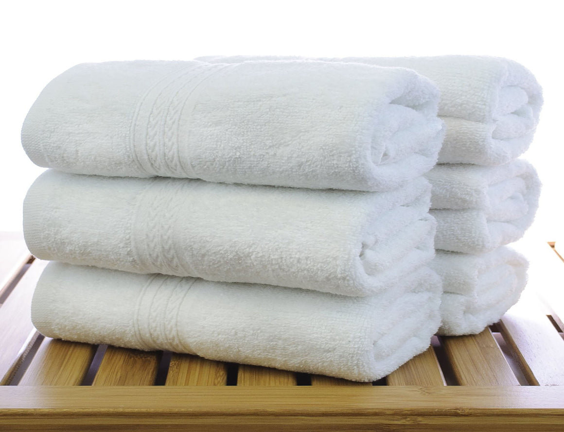 Wholesale 100% Cotton Eco White Hand Towels