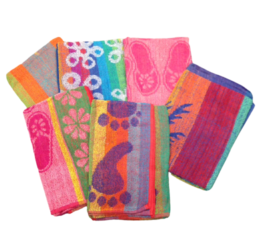 100% Cotton Jacquard 6 Design Assorted Beach Towels - 3 Dz