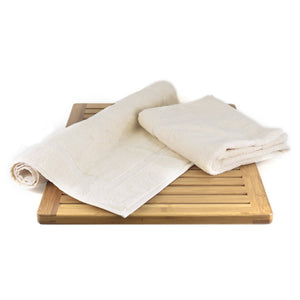 Wholesale Soft Turkish Cotton Terry Beige Bath Mat