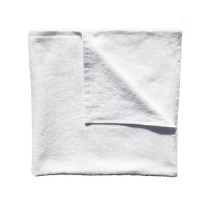 100% Ringspun Cotton White Sports Neck Velour Hemmed Towel - 10 Dz