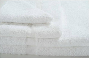 Oxford Gold 86% Cotton 14% Polyester With 100% Cotton Loops Cam Border White Washcloth - 25 Dz