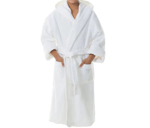 Hooded Cotton Terry Kids Luxury White Robe