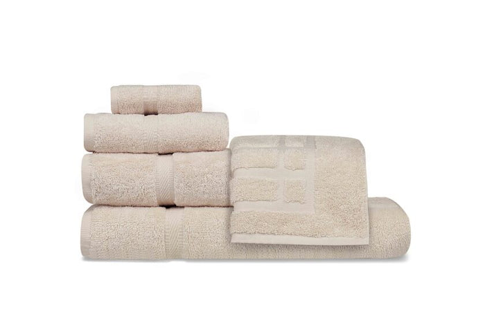 Oxford Imperiale 100% Ringspun Cotton Dobby Border & Dobby Edge Bone Hand Towel - 10 Dz